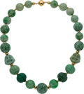 Estate Jewelry:Necklaces, Jadeite Jade, Quartz, Gold Necklace. ...
