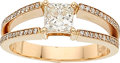 Estate Jewelry:Rings, Diamond, Rose Gold Ring . ...