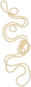 Estate Jewelry:Necklaces, Cultured Pearl Necklace...