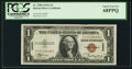 Small Size:World War II Emergency Notes, Fr. 2300 $1 1935A Hawaii Silver Certificate. PCGS Superb Gem New68PPQ.. ...