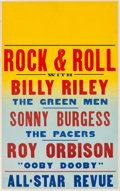 Music Memorabilia:Posters, Roy Orbison/Sun Records Early Concert Poster (circa 1957) ExtremelyRare....