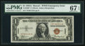 Small Size:World War II Emergency Notes, Fr. 2300* $1 1935A Hawaii Silver Certificate. PMG Superb Gem Unc 67EPQ.. ...