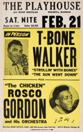 Music Memorabilia:Posters, T-Bone Walker/Rosco Gordon The Playhouse Concert Poster (1953).Extremely Rare....