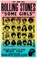 Music Memorabilia:Posters, Rolling Stones Some Girls Promotional Poster (Rolling StonesRecords, 1978). Very Rare....