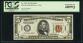Small Size:World War II Emergency Notes, Fr. 2301 $5 1934 Hawaii Federal Reserve Note. PCGS Superb Gem New68PPQ.. ...