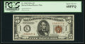 Small Size:World War II Emergency Notes, Fr. 2302 $5 1934A Hawaii Federal Reserve Note. PCGS Superb Gem New 68PPQ.. ...