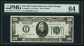 Fr. 2050-G* $20 1928 Federal Reserve Star Note. PMG Choice Uncirculated 64