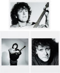 Music Memorabilia:Photos, Donovan - Three Black and White Photos by Nancy Andrews with Negatives and Full Copyright (1988)....