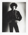 Music Memorabilia:Photos, Jimi Hendrix Limited Edition Black and White Photo by Bruc...