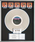 Music Memorabilia:Awards, Whitney Houston RIAA Hologram Multi-Platinum (5x) Sales Award (Arista 8-8212, 1985)....