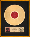 Music Memorabilia:Awards, Santana Zebop! RIAA Gold Record Sales Award (Columbia FC 37158, 1981)....