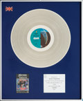 Music Memorabilia:Awards, Santana Amigos BPI (British) Silver Album Award (CBS40-86005, 1976)....