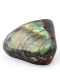 Lapidary Art:Carvings, Labradorite Free-Form. Labrador. Newfoundland and Labrador.Canada. 4.85 x 5.33 x 2.14 inches (12.31 x 13.54 x 5.44 cm)...
