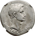 Ancients:Roman Imperial, Ancients: Augustus (27 BC-AD 14). AR cistophorus (26mm, 11.57 gm,1h). NGC VF 4/5 - 4/5....
