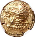 Ancients:Greek, Ancients: IONIA. Erythrae. Ca. 550-500 BC. EL sixth stater or hecte(10mm, 2.51 gm). NGC MS 4/5 - 5/5....