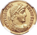 Ancients:Roman Imperial, Ancients: Valentinian I (AD 364-375). AV solidus (22, 4.57 gm, 6h). NGC MS 5/5 - 4/5....