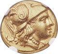 Ancients:Greek, Ancients: MACEDONIAN KINGDOM. Alexander III the Great (336-323 BC).AV stater (18mm, 8.54 gm, 12h). NGC Choice AU 4/5 - 3/5 exjewelry....