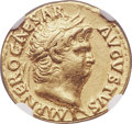 Ancients:Roman Imperial, Ancients: Nero (AD 54-68). AV aureus (19mm, 4.28 gm(?), 6h). NGC Choice VF 5/5 - 4/5....