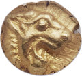 Ancients:Greek, Ancients: IONIA OR CARIA. Uncertain Mint. Ca. 600-550 BC. EL 12th stater or hemihecte (8mm, 1.31 gm). NGC MS ★ 5/5 - 5/5....