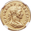Ancients:Roman Imperial, Ancients: Probus (AD 276-282). AV aureus (20mm, 5.37 gm, 6h). NGCChoice XF 4/5 - 3/5, brushed....