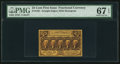 Fractional Currency:First Issue, Fr. 1281 25¢ First Issue PMG Superb Gem Unc 67 EPQ.. ...