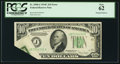 Error Notes:Foldovers, Fr. 2008-J $10 1934C Wide Federal Reserve Note. PCGS New 62.. ...