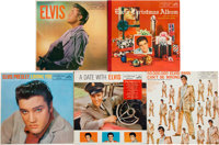 Elvis Presley Classic Early Mono LP Group of 5 (RCA, 1956-60)
