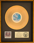 Music Memorabilia:Awards, Doobie Brothers Best of the Doobies RIAA Gold Record SalesAward (Warner Bros. BS 2978, 1976)....
