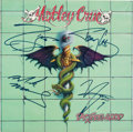Music Memorabilia:Autographs and Signed Items, Mötley Crüe Signed Dr. Feelgood LP (Elektra 60829-2,1989)....