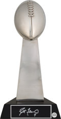 Football Collectibles:Others, 1997 Brett Favre Signed Super Bowl XXXI Replica Lombardi Trophy....