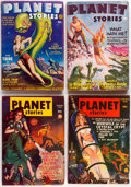 Pulps:Science Fiction, Planet Stories Group of 7 (Fiction House, 1942-50) Condition:Average VG.... (Total: 7 Comic Books)