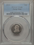Bust Dimes, 1814 10C Large Date VG8 PCGS. PCGS Population: (12/215). NGCCensus: (0/147). CDN: $90 Whsle. Bid for problem-free NGC/PCGS...