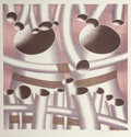 Fine Art - Work on Paper:Print, Jack Brusca (1939-1993)Pipes, 1978