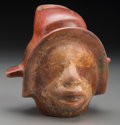 Pre-Columbian:Ceramics, A Colima Head Pot. ...