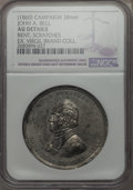 U.S. Presidents & Statesmen, (1860) John A. Bell Campaign Medal, DeWitt-JBELL-1860-1 -- Bent,Scratched -- NGC Details. AU. White metal. 38 mm. Dies by B...