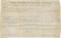 Autographs:U.S. Presidents, James Monroe Land Grant Signed....