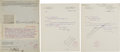 Autographs:U.S. Presidents, Herbert Hoover Signed Printed Form and Two Secretarially SignedLetters.... (Total: 3 Items)