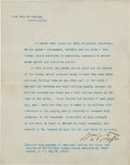 Autographs:U.S. Presidents, William H. Taft Signed Extract from an Address Delivered at the Sixth Convention of the World's Sunday School Association....
