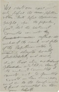 Autographs:U.S. Presidents, Theodore Roosevelt Partial Autograph Draft of a Speech Delivered the Eve Before the 1912 Republican National Convention....