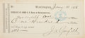 Autographs:U.S. Presidents, James A. Garfield Counter Check Signed...