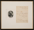 Autographs:U.S. Presidents, James Garfield Letter Signed...