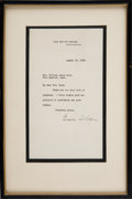 Autographs:U.S. Presidents, Grace Coolidge Typed Letter Signed...