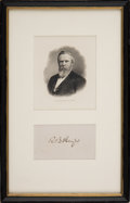 Autographs:U.S. Presidents, Rutherford B. Hayes Signature...