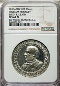 U.S. Presidents & Statesmen, William McKinley Birth and Death Medal, MS62 Prooflike NGC. Nodate. The sharply detailed, frosty design elements of this at...