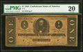 Confederate Notes:1864 Issues, T71 $1 1864 PF-7 Cr. UNL.. ...