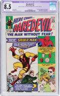 Silver Age (1956-1969):Superhero, Daredevil #1 (Marvel, 1964) CGC Apparent VF+ 8.5 Moderate (A-3)Off-white pages....
