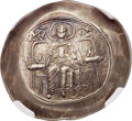 Ancients:Byzantine, Ancients: Isaac II Angelus, first reign (1185-1195). EL asprontrachy (29mm, 3.89 gm, 6h). NGC MS ★ 5/5 - 5...
