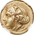 Ancients:Greek, Ancients: LESBOS. Mytilene. Ca. 412-378 BC. EL sixth stater or hecte (10mm, 2.55 gm, 5h). NGC AU ★ 5/5 - 5/...