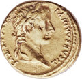 Ancients:Roman Imperial, Ancients: Tiberius (AD 14-37). AV aureus (18mm, 7.79 gm, 1h).Choice XF....