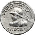 Ancients:Greek, Ancients: GRECO-BACTRIAN KINGDOM. Eucratides I the Great (ca.171-145 BC), with Heliocles and Laodice. AR tetradrachm (30mm,16.81 gm, 1...